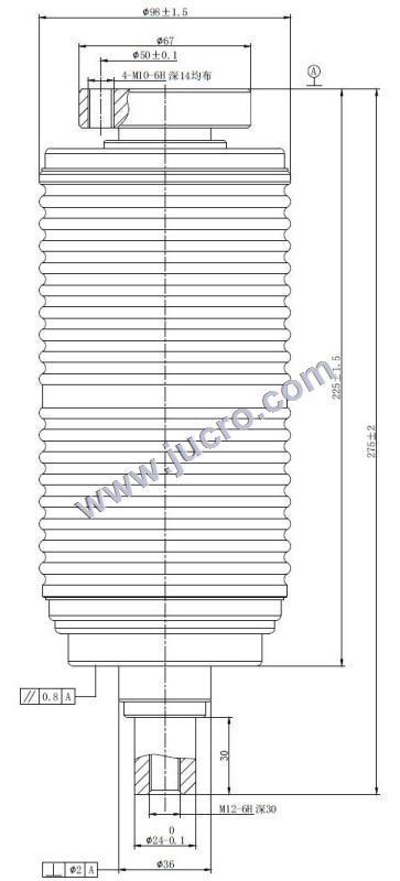 Vacuum Interrupter TD 12kv 1600A 31.5KA (JUC618A)   for VCB