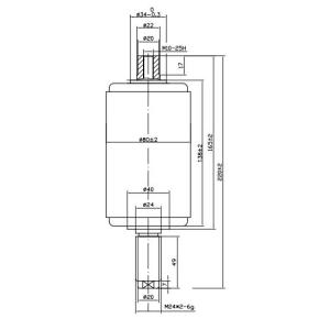 Vacuum Interrupter TD 12kv 630A 25KA (JUC610)   for VCB use from JUCRO Electric