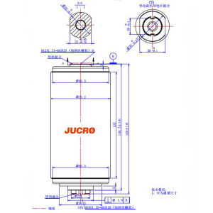 Vacuum Interrupter JUC61182 12KV/630A-20KA for load-breaking switch use from JUCRO Electric
