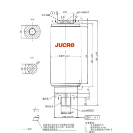 27KV Vacuum Interrupter JUC61202 800A-12.5KA,16KA for recloser use from JUCRO Electric