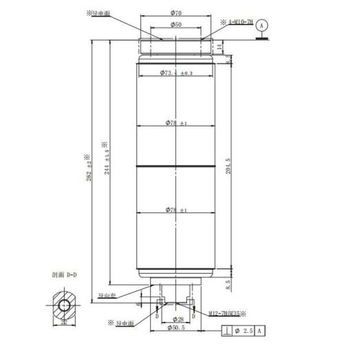 JUC61107D 40.5KV 1250A вакуумный прерыватель для использования выключателя нагрузки от JUCRO