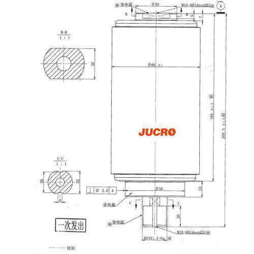 Вакуумный прерыватель JUC61179A 40.5KB / 38KV 800A 20KA для VCB от JUCRO Electric