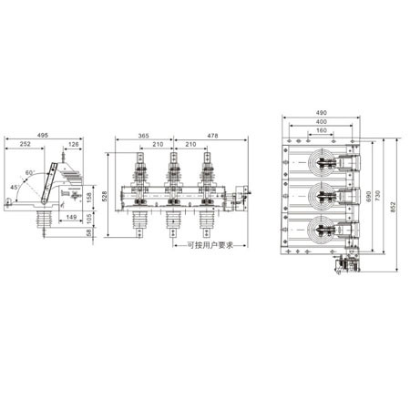 Isolating switch Disconnecting Switch GN38-12 series indoor HV From Jucro Electric