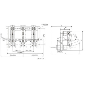 Disconnecting Switch Isolation Switch GN22-12(C)  series indoor HV From Jucro Electric