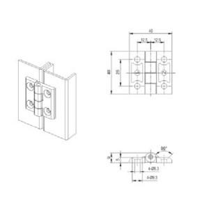 CL226-3 Шарнир для принадлежностей распределительного устройства низкого напряжения от JUCRO