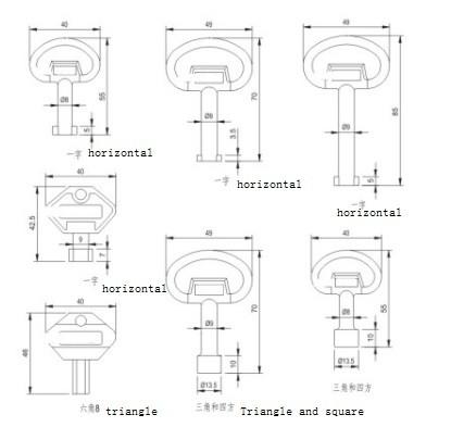 MS705-1 Замок вращающегося язычка для принадлежностей распределительного устройства низкого напряжения от JUCRO Electric
