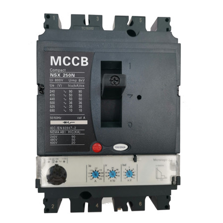 Moulded Case Circuit Breaker JCNSX250NE 200A MCCB Electronic Type from HUBEI JUCRO ElECTRIC