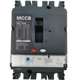 Moulded Case Circuit Breaker JCNSX160NT 125A MCCB Thermal magnetic Type from HUBEI JUCRO ElECTRIC