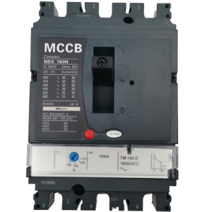 Moulded Case Circuit Breaker JCNSX160NT 160A MCCB Thermal magnetic Type from HUBEI JUCRO ElECTRIC