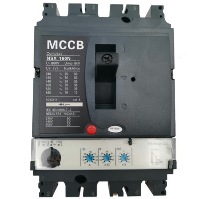 Moulded Case Circuit Breaker JCNSX160NE 160A MCCB Electronic Type from HUBEI JUCRO ElECTRIC