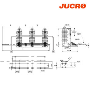 JN22B-40.5/31.5 Indoor high voltage  AC grounding switch earthing switch  from JUCRO Electric