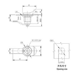 MS816-1 Зажим для вращающегося язычка для распределительного устройства низкого напряжения от JUCRO