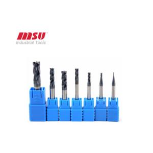 High Precision Square Carbide End Mill Cutter 4 Flute HRC45 AlTIN