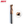 55 Degree 6mm Square Carbide End Mill TiSin Coated 2 Flute