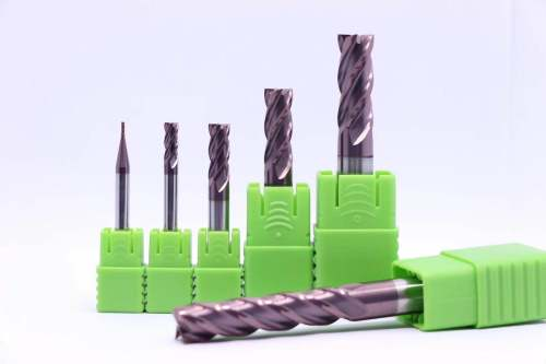 Solid Carbide End Mill Sets  4 Flute HRC55 Coated TialCrN
