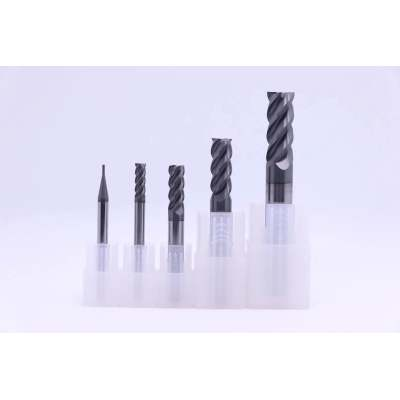 High Hardness Solid Carbide End Mills HRC60 NACO Black Coated 4F Flattened