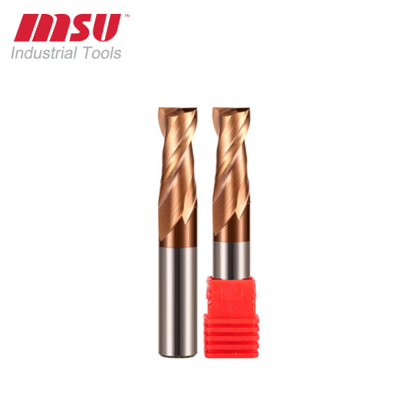 2 Flute Flat Milling Cutter Carbide End Mill 55HRC For Steel