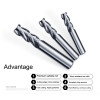 3Flute Solid Carbide End Mill For Aluminium uncoated