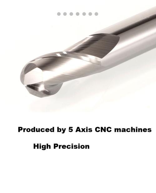 MSU Solid Carbide Ball Nose End Mill For Aluminium