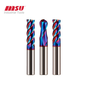Carbide End Mill HRC65 Nano Coating For Stainless Steel