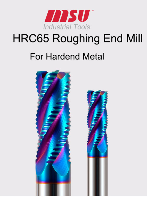 MSU HRC65 Carbide Roughing End Mill For Hardend Steel/Alloy Steel/Tool Seel