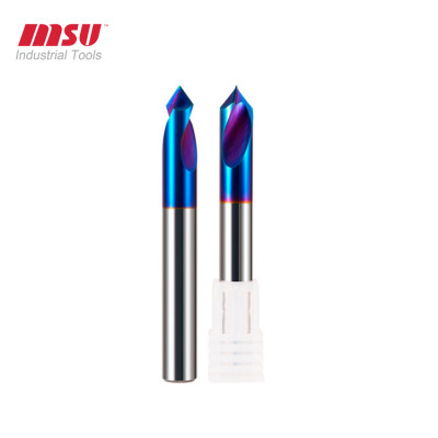 HRC 65Nano Coating Carbide NC Spot Drills For Hardened Steel