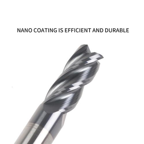 MSU HRC60 Nano Black Coated Radius End Mill