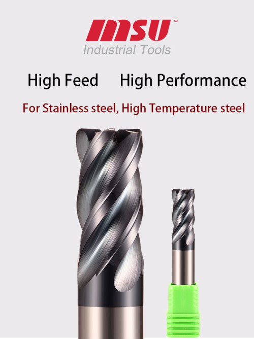 High feed end mill HRC65 Corner Radius End Mill For Stainless Steel Alloy Steel