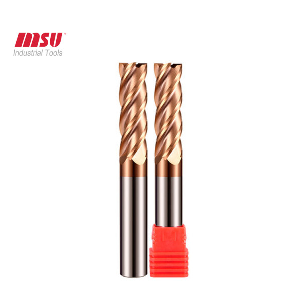 Extra long square end mill -HRC55-4 Flute