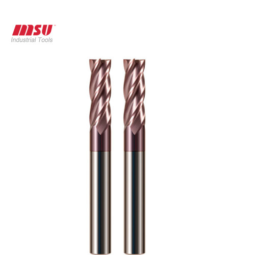 HRC55 4 Flute Flat TiALCrN Carbide End Mills