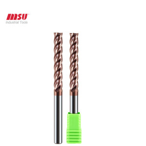 Extra Long Flute Flat Carbide End Mill For Mold Steel -CNC End Mill Cutter 2 Flute -HRC58