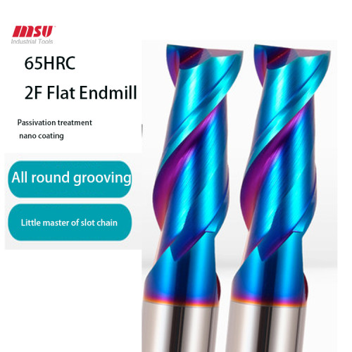 MSU HRC65 2F Carbide  End Mill For Hardend Steel/Alloy Steel/Tool Seel
