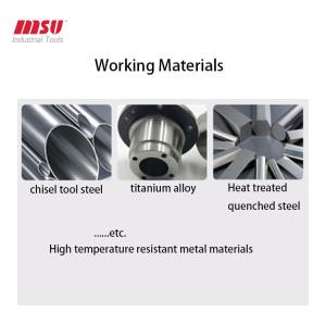 Tungsten Steel 2 F Nano Black Carbide Ball Nose End Mill For Steel