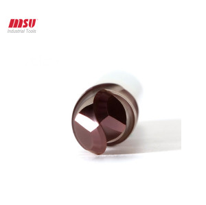 HRC58 Carbide Ball Nose End Mill For Hardended Steel Machining