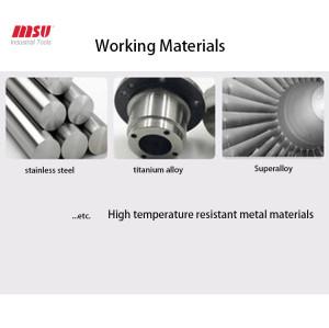 MSU HRC60 4F Carbide Ball Nose End Mill For Aluminium
