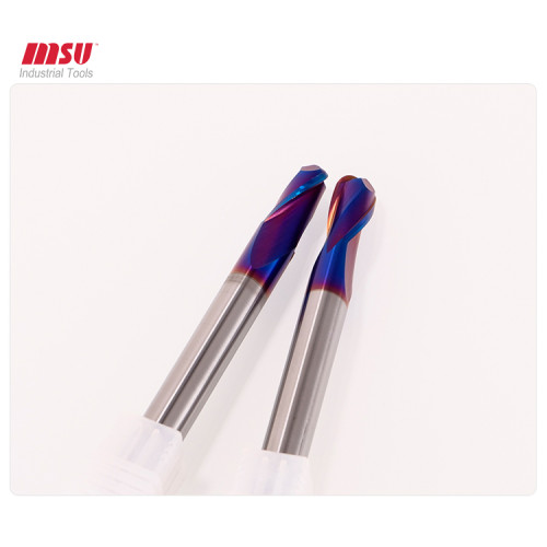 HRC65 Carbide Ball Nose End Mill For Hardended Steel Machining