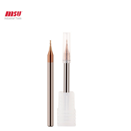 MSU 2 Flute Carbide Micro End Mill HRC 58 For Steel