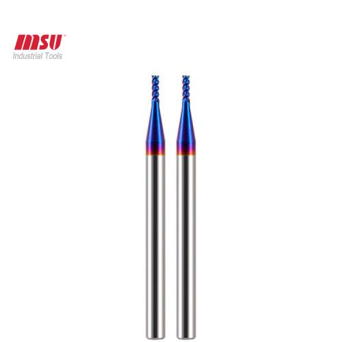 4 Flute HRC65  Solid Carbide  Micro End Mill Bit For Hardened Steel-Square End