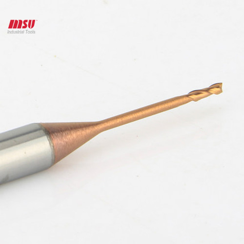 MSU 2 Flute  Extral Long Reach Carbide Micro End Mill HRC 58 For Steel
