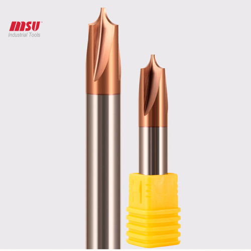 Carbide Corner Rouding End Mills  Deburring solid carbide end mills cnc Router Bit 90 coated chamfering milling cutter