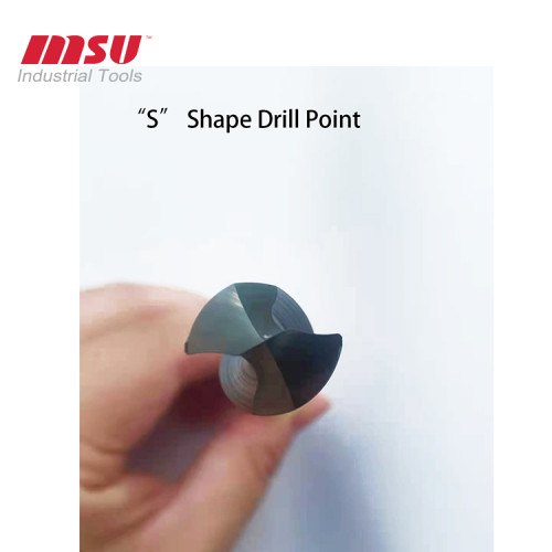 High Efficiency Solid External  Carbide Drill Bit For Metal Hole Drilling AlTiN Coating
