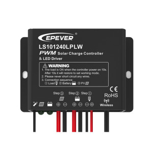 LS101240LPLW 10A 12VDC Solar Charge Controller with built-in LED driver