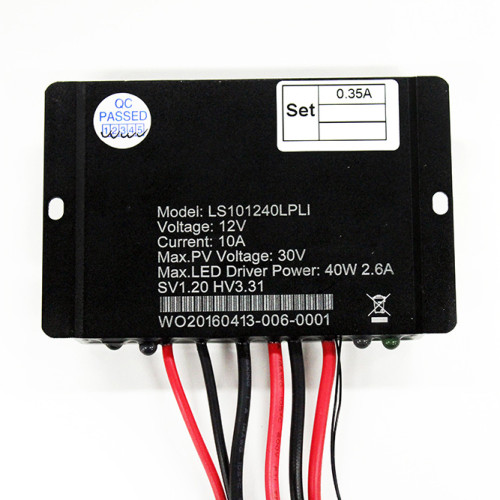 LS2101260LPLI 10A 12VDC Solar Charge Controller with built-in LED driver