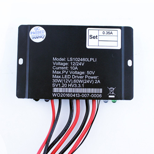 LS102460LPLI 10A 12/24VDC Solar Charge Controller with built-in LED driver