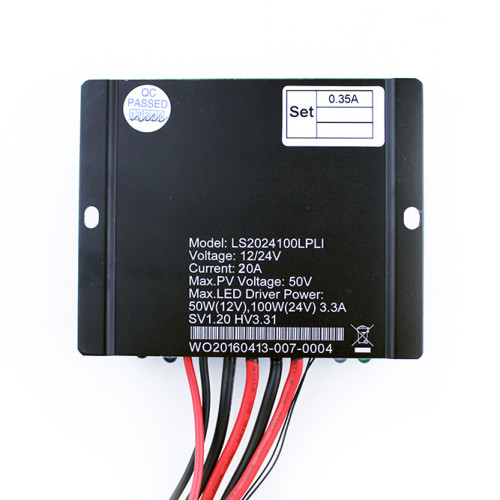 LS2024120LPLI 20A 12/24VDC Solar Charge Controller with built-in LED driver