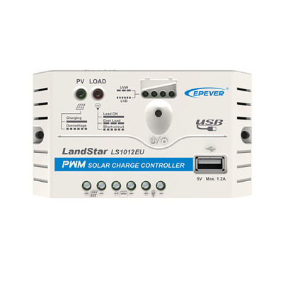 LandStar1024EU 10A 12/24VDC PWM Solar Charge Controller