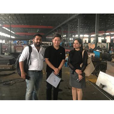 Indian ClientsVisit Our Gabion Machine Factory