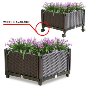 Freestanding Plant Planter Box Stand Elevated Garden Bed System