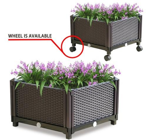Plastic balcony vegetable pot rectangular flower pot courtyard plant pot