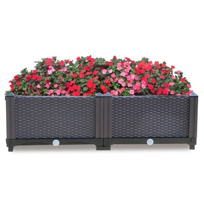 Home garden use raised garden planter Kits garden box white flower pot